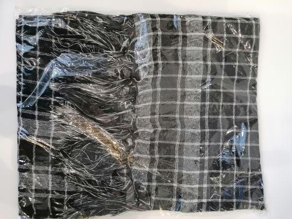 Schal schwarz-weiß