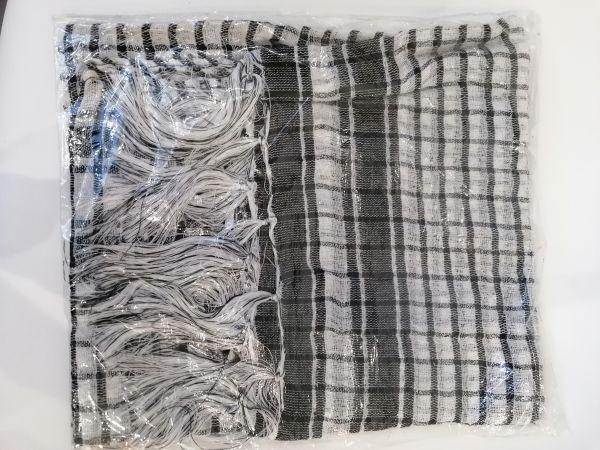 Schal weiß-schwarz